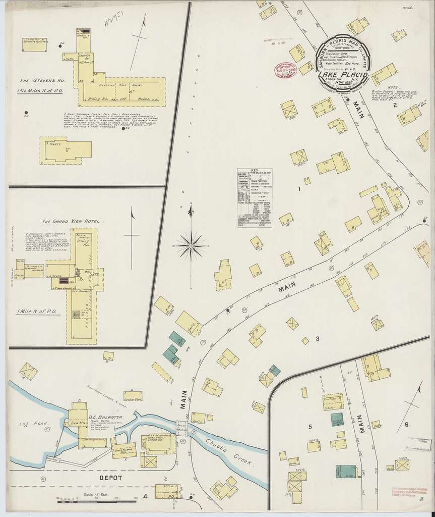 Sanborn Fire Insurance Map from Lake Placid, Essex County, New York