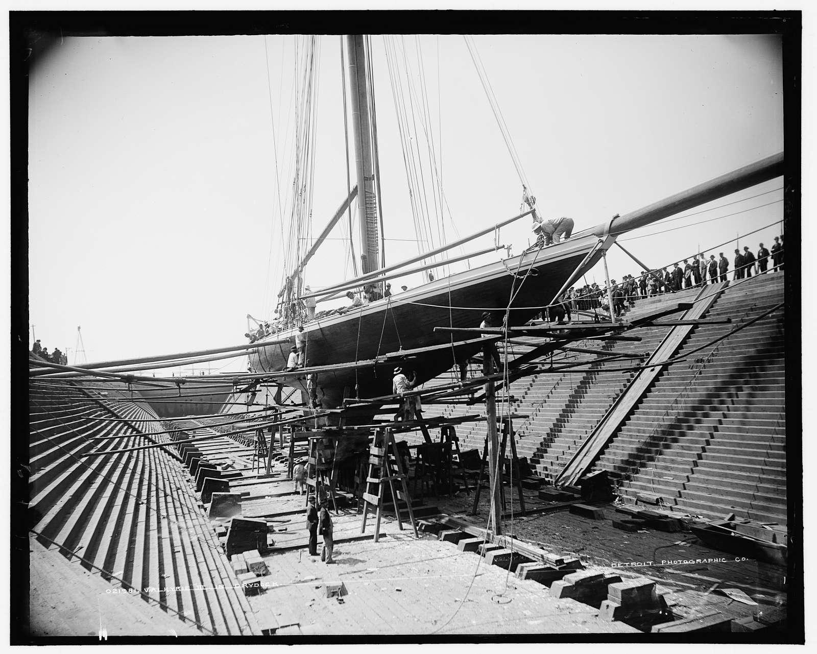 Valkyrie III in drydock