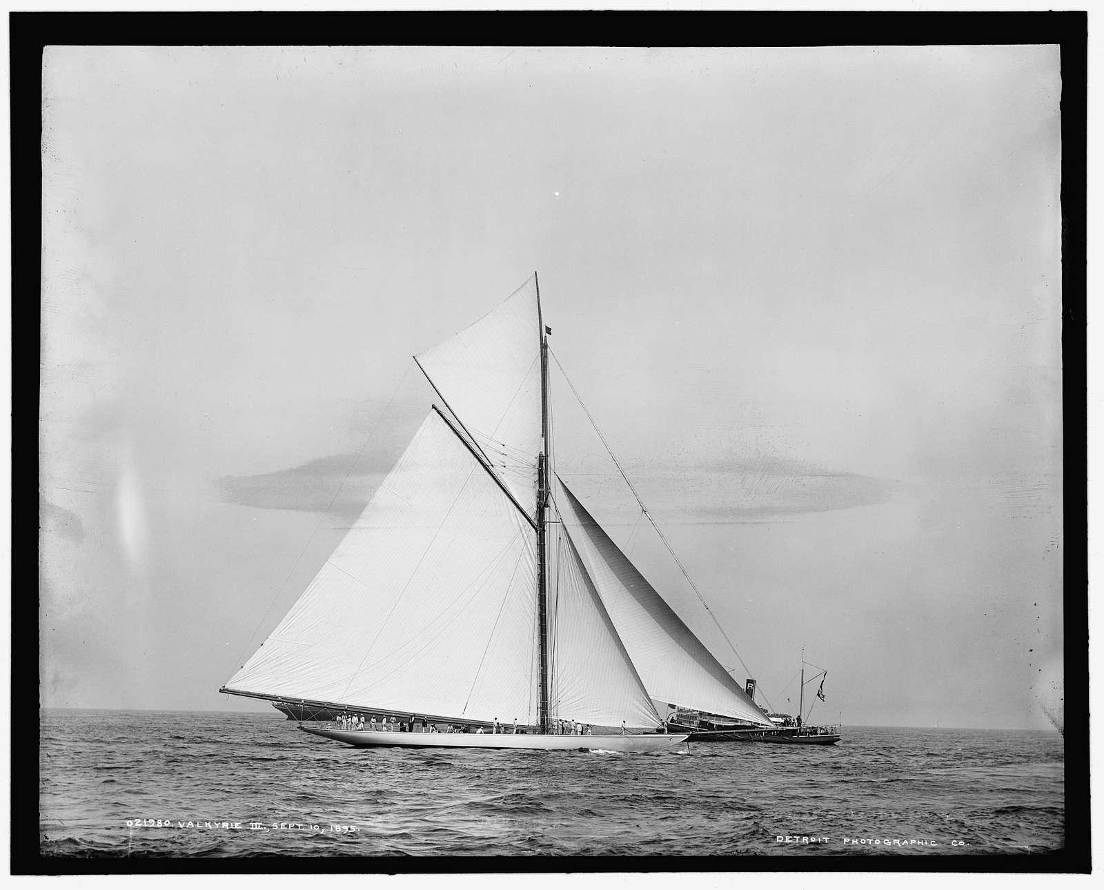 Valkyrie III, Sept. 10, 1895