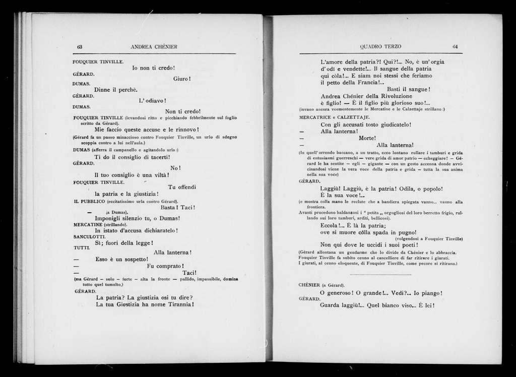 Andrea Chénier. Libretto. Italian