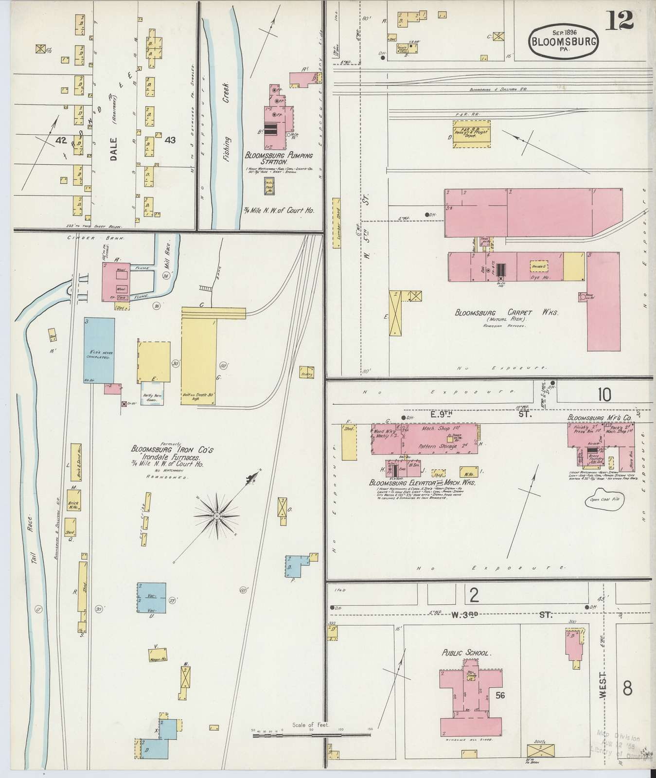 Sanborn Fire Insurance Map from Bloomsburg, Columbia County, Pennsylvania