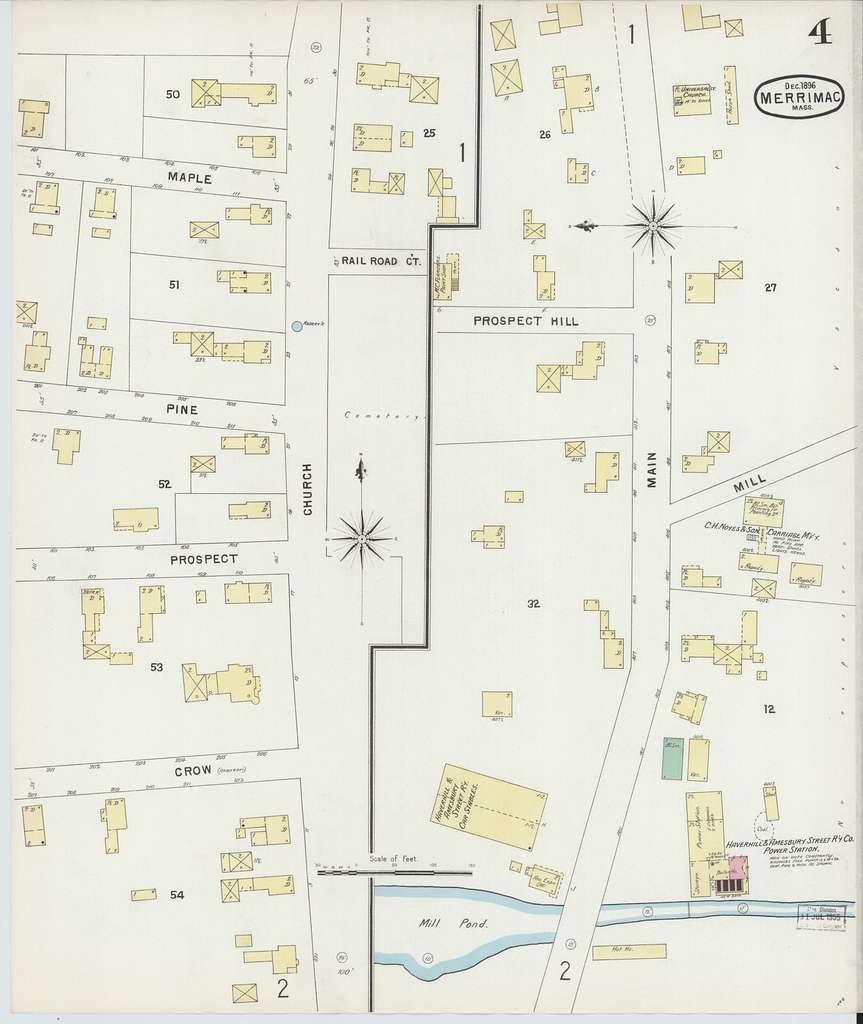 Sanborn Fire Insurance Map from Merrimac, Essex County, Massachusetts