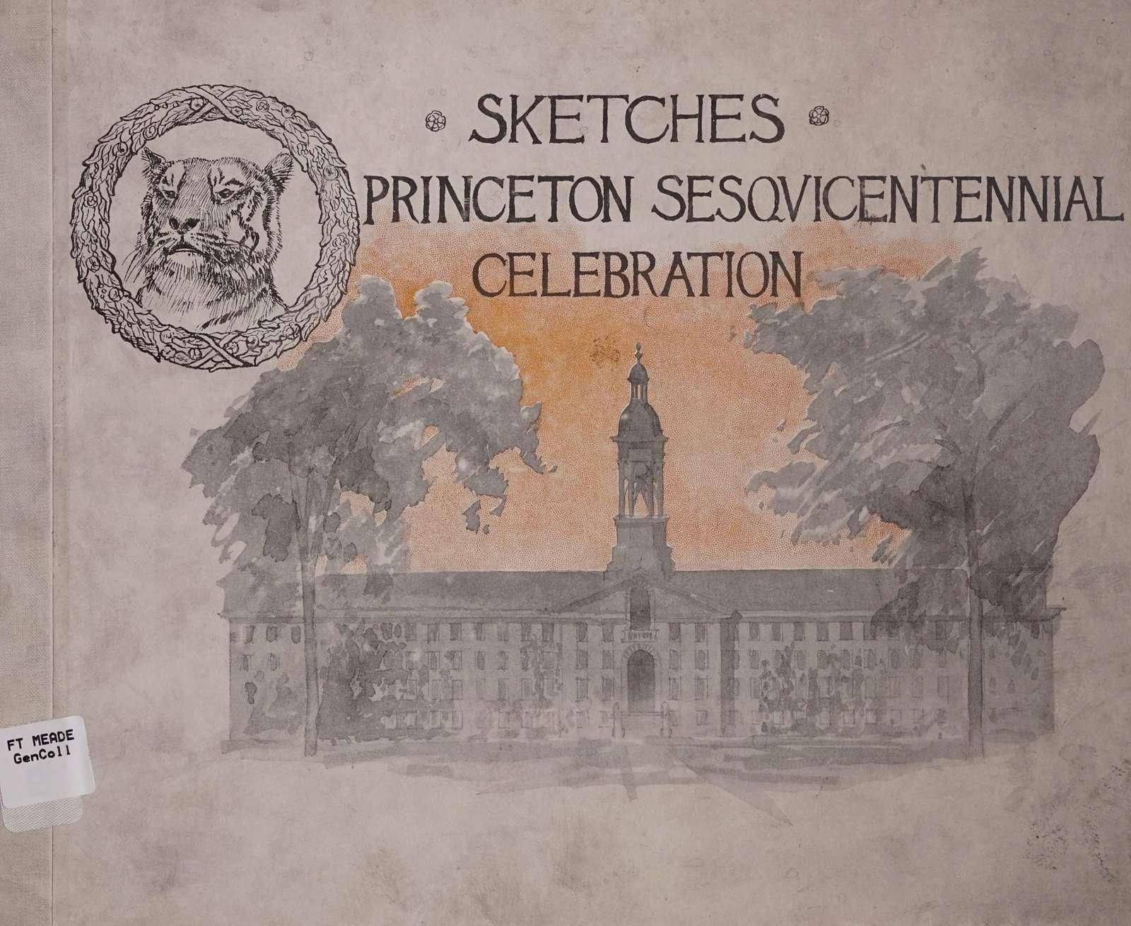 Sketches. Princeton sesqvicentennial celebration