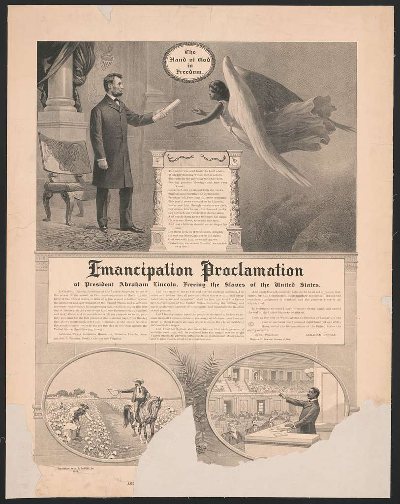 The hand of God in Freedom, Emancipation Proclamation