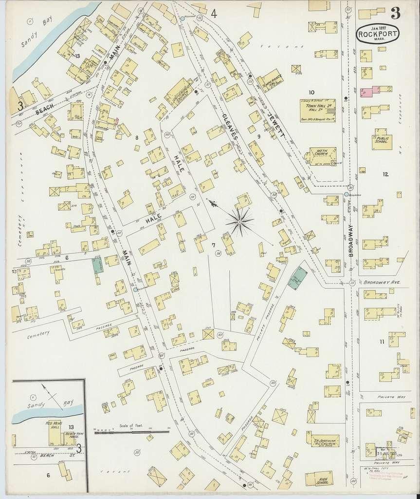 Sanborn Fire Insurance Map from Rockport, Essex County, Massachusetts