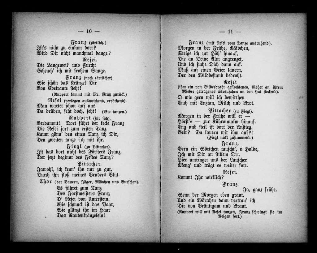 Heirathschein. Libretto. German