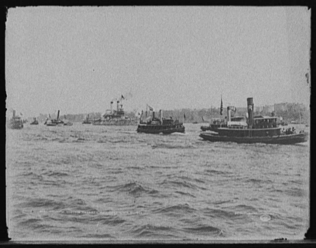 Return of Santiago fleet, New York Harbor, Aug. 20, 1898