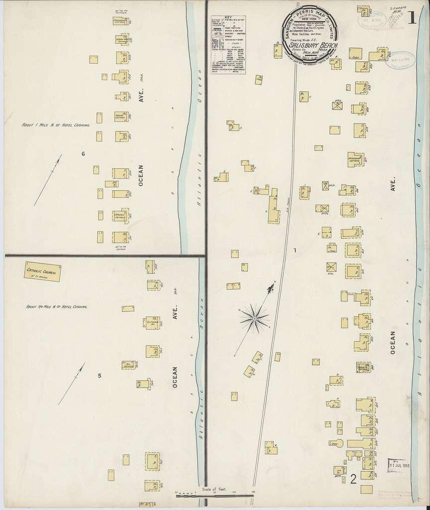 Sanborn Fire Insurance Map from Salisbury, Essex County, Massachusetts