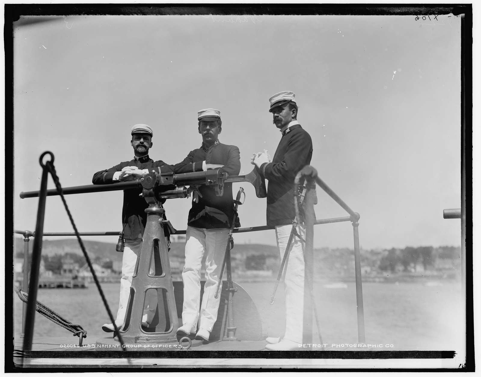 U.S.S. Nahant, group of officers
