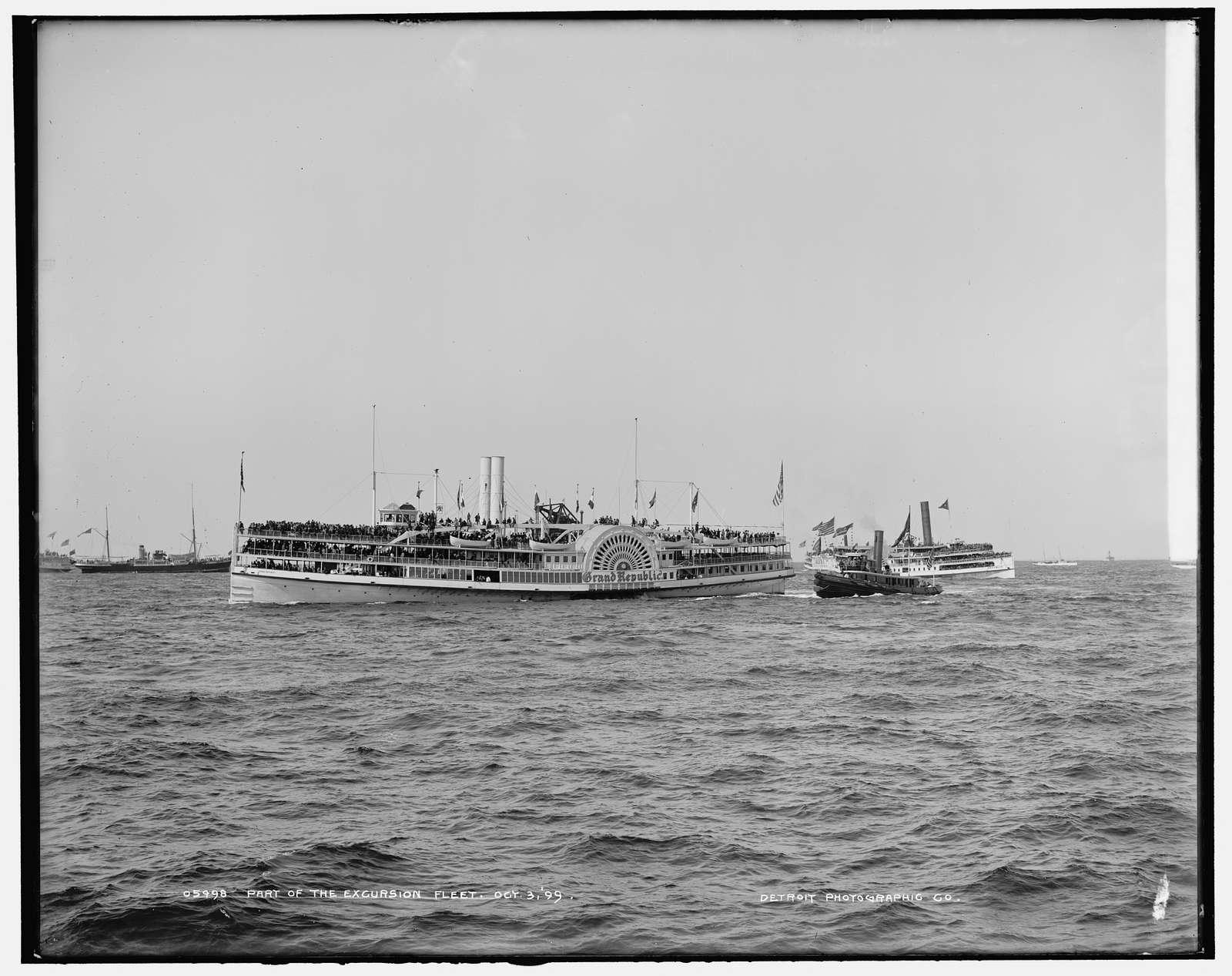 Part of the excursion fleet