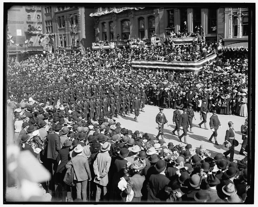 Sailors from U.S.S. New York, Dewey Land Parade
