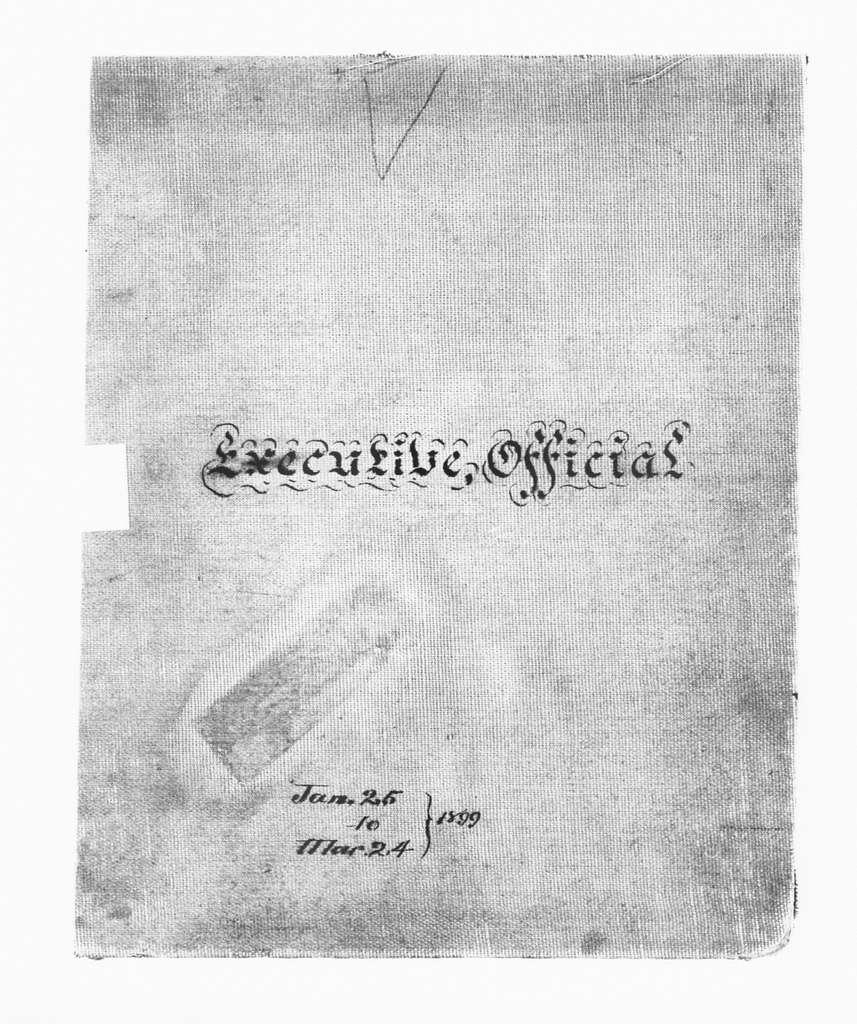 Theodore Roosevelt Papers: Series 2: Letterpress Copybooks, 1897-1916; Vol. 7, 1899, Jan. 25-Mar. 14
