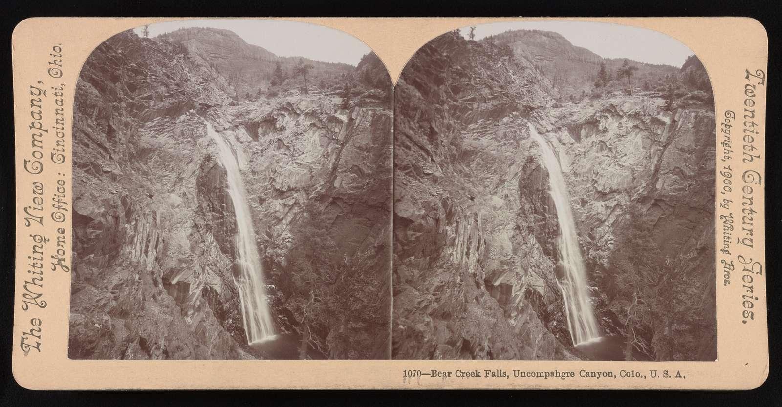 Bear Creek Falls, Uncompahgre Canyon, Colo., U.S.A