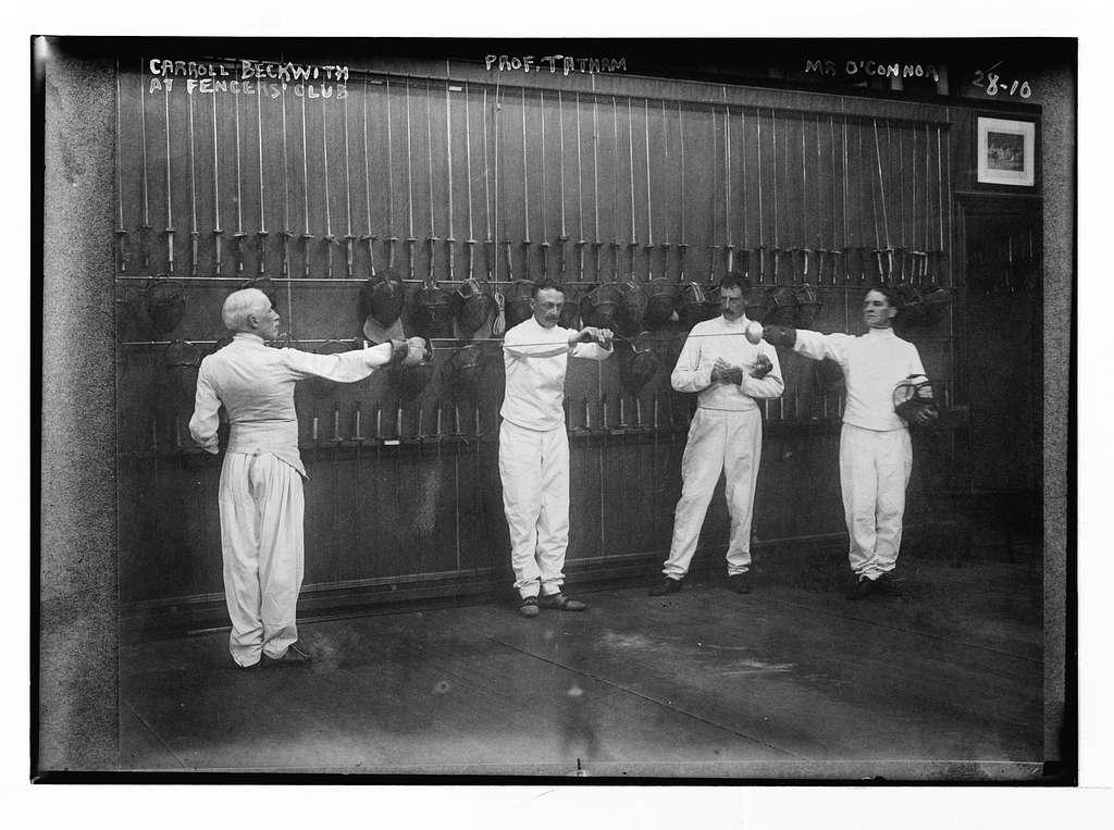 Fencers club: Carroll Beckwith, Mr. O'Connor, Prof. Tatham