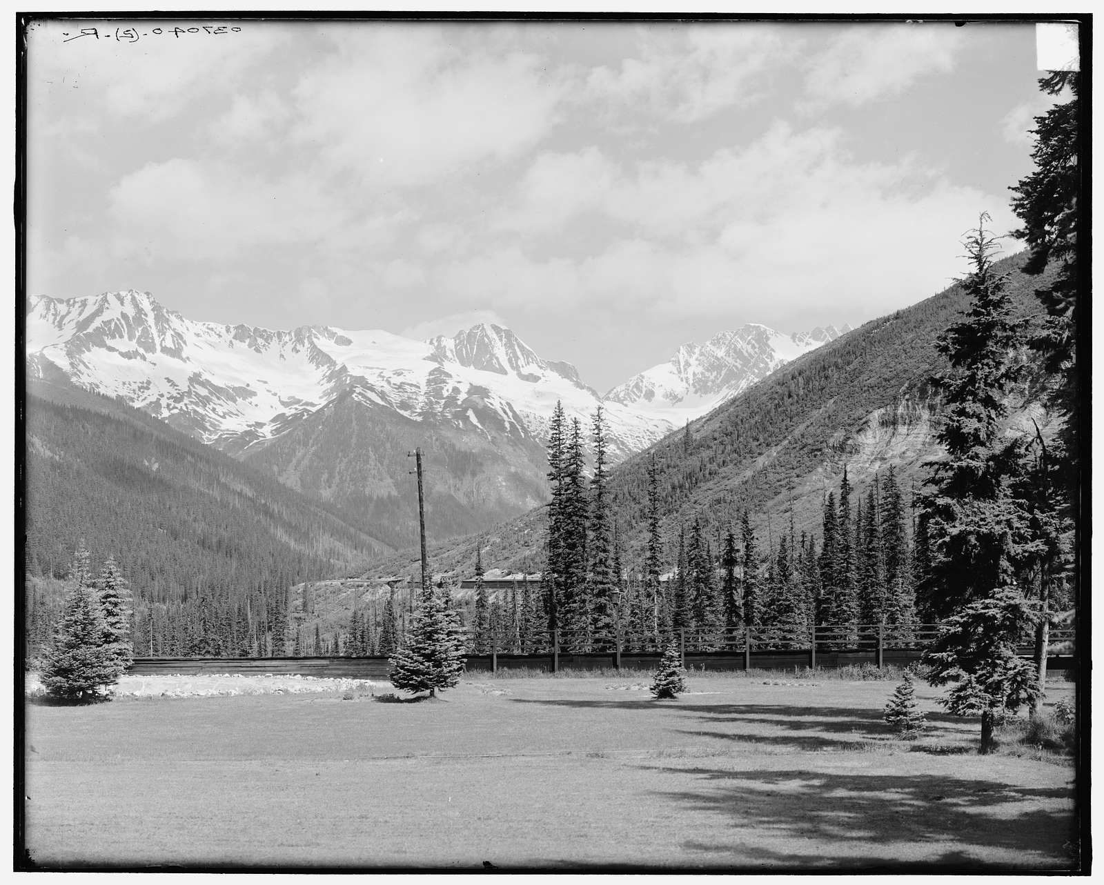 Hermit Range from Glacier House, Selkirk Mountains, British Columbia, Canada