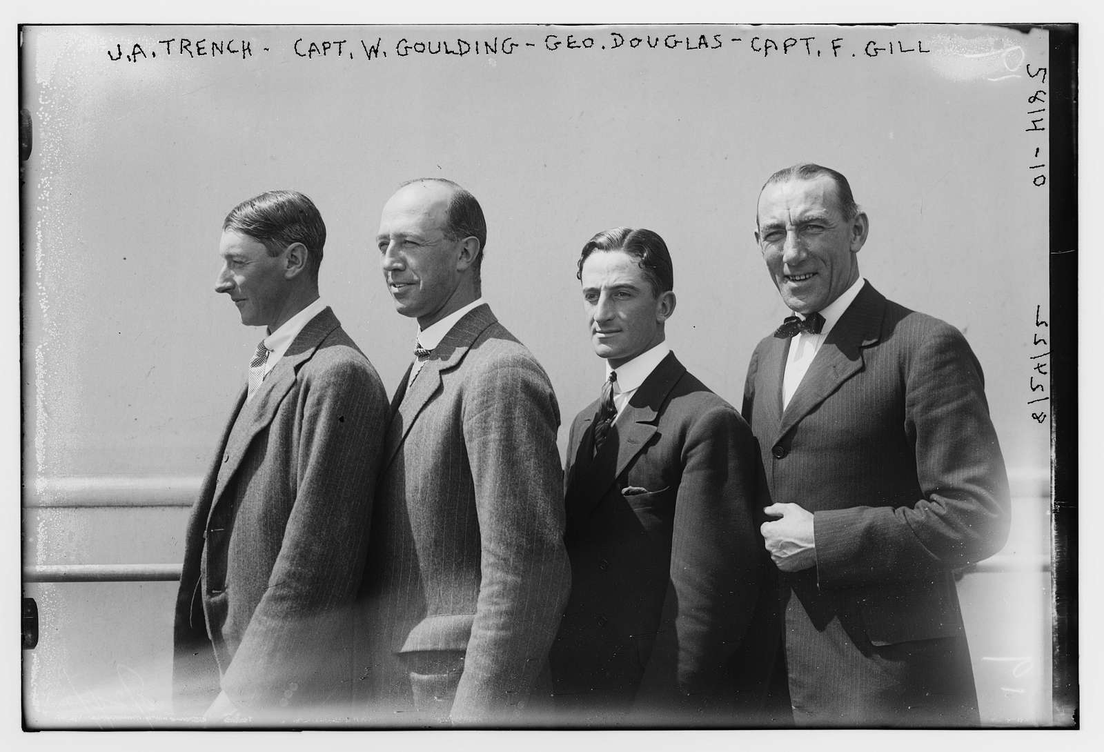 J.A. Trench, Capt. W. Goulding, Geo. Douglas and Capt. F. Gill