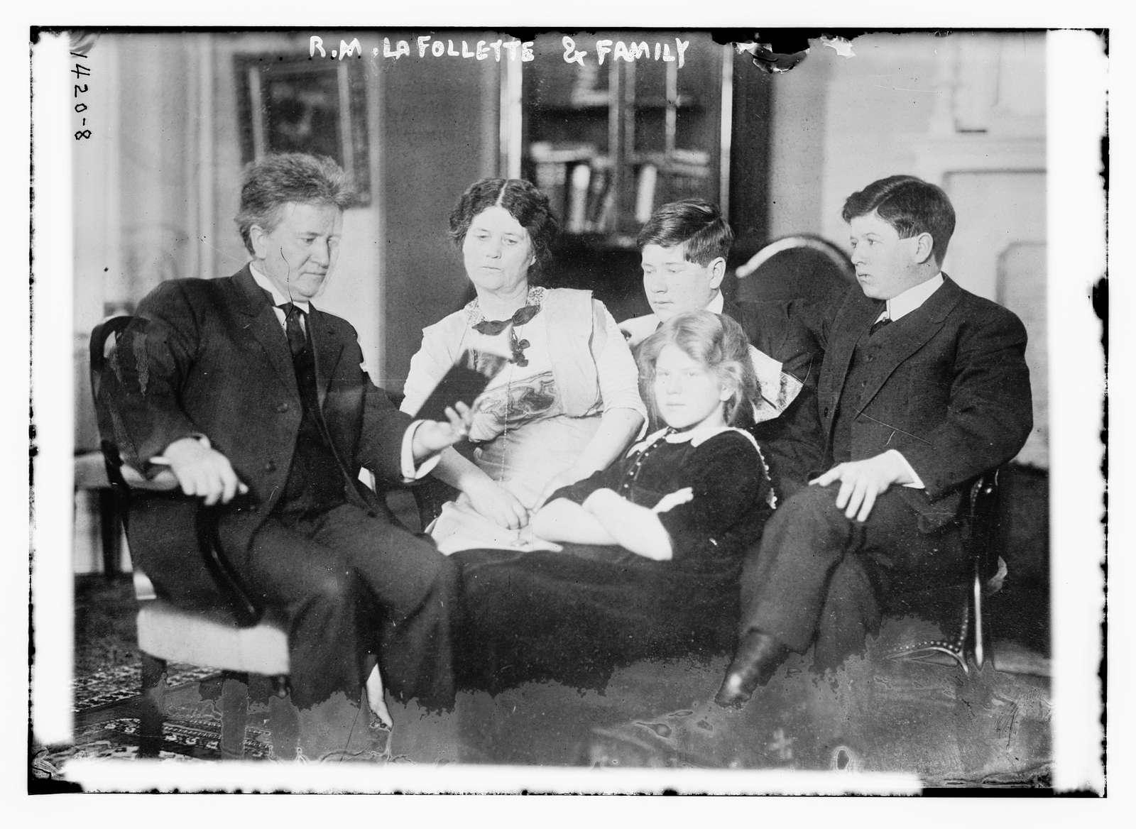 R.M. LaFollette & family