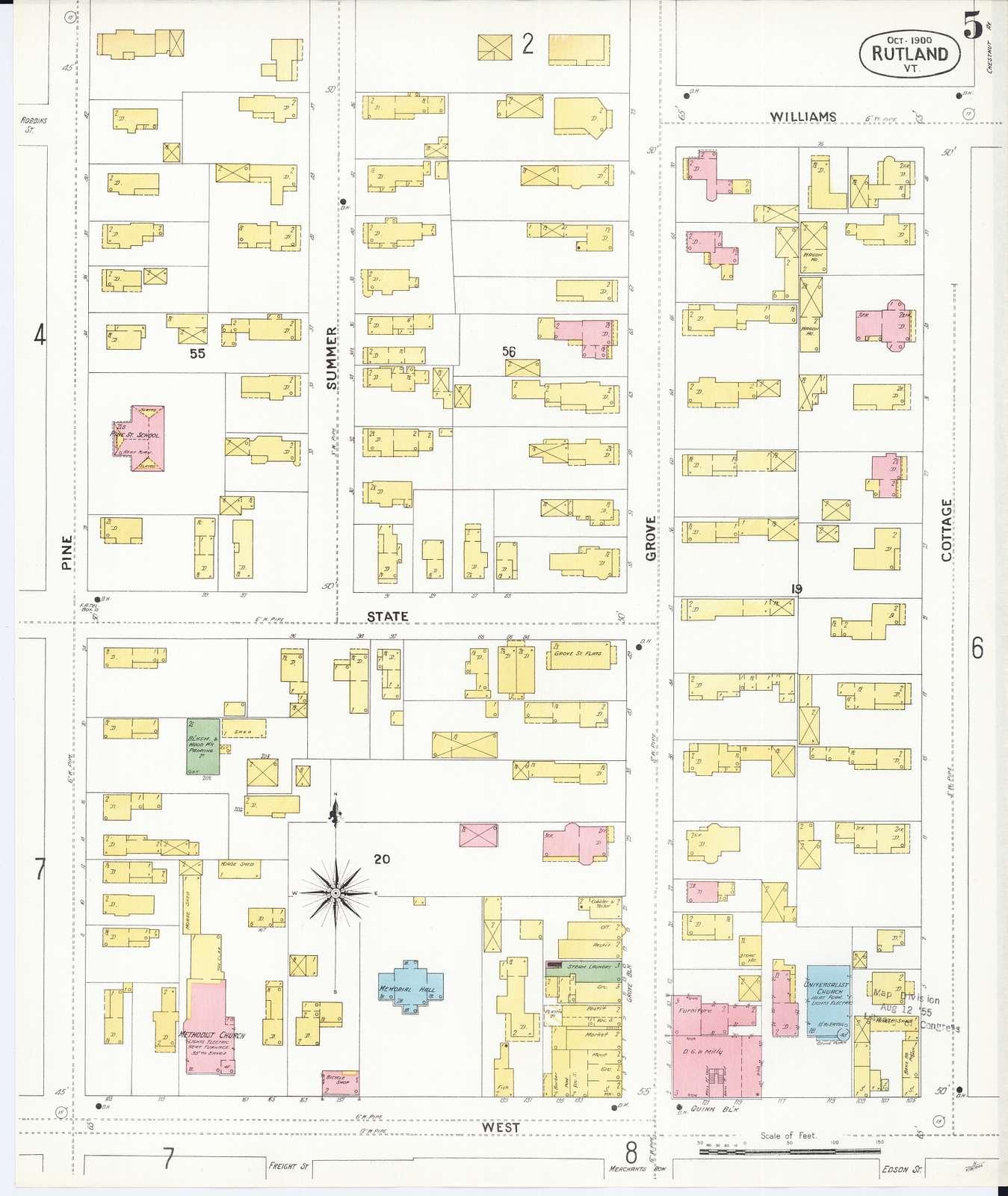 Sanborn Fire Insurance Map from Rutland, Rutland County, Vermont
