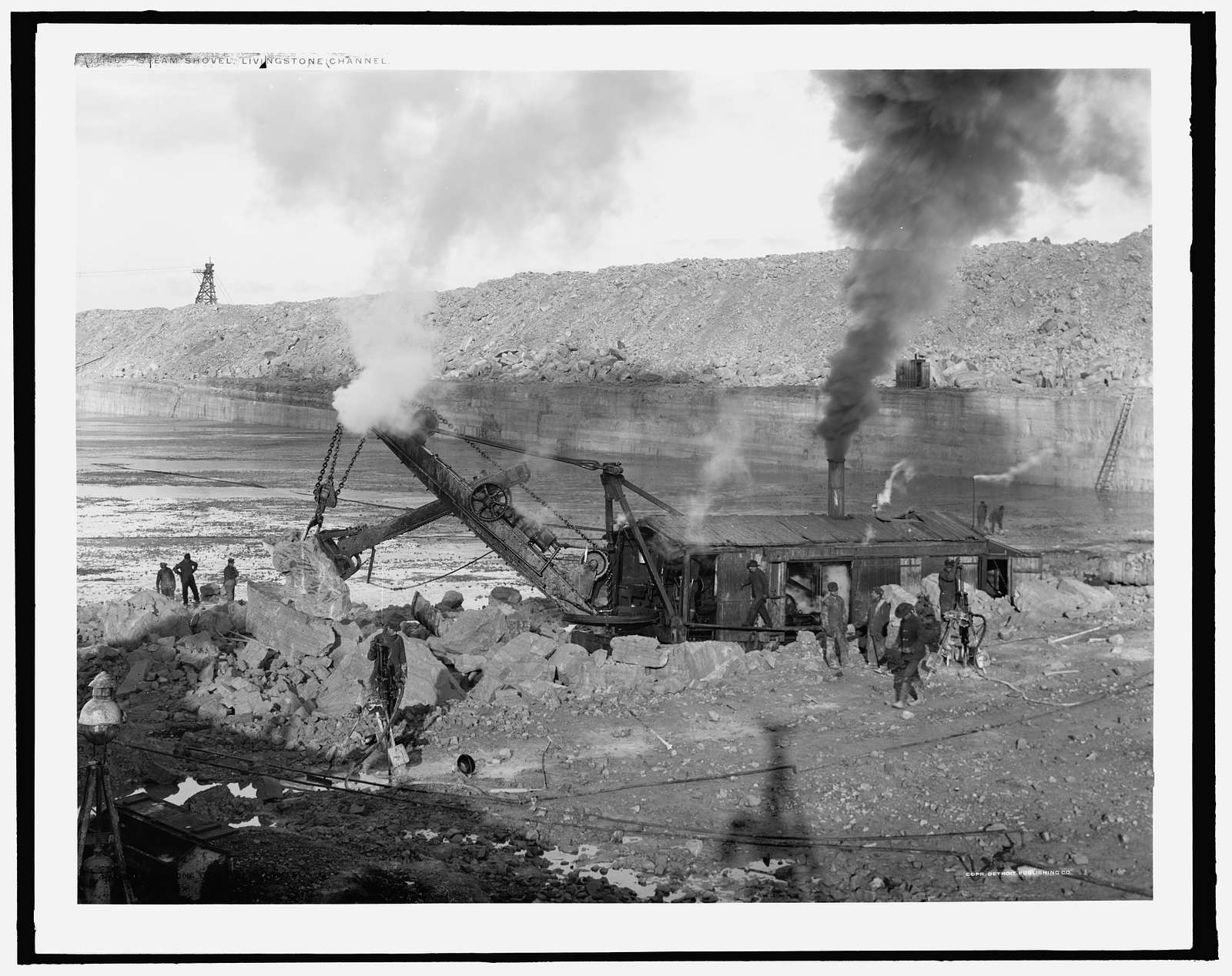Steam shovel, Livingstone Channel, Stony Island