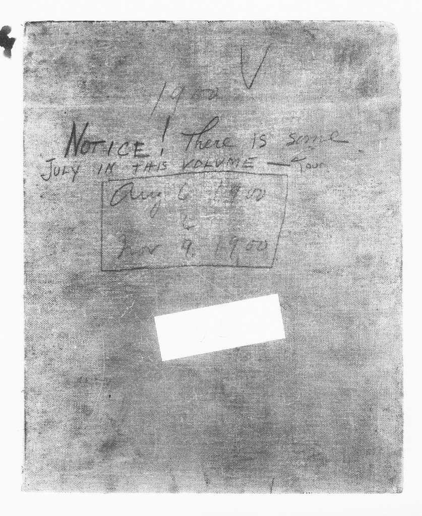 Theodore Roosevelt Papers: Series 2: Letterpress Copybooks, 1897-1916; Vol. 25, 1900, Aug. 6-Nov. 9