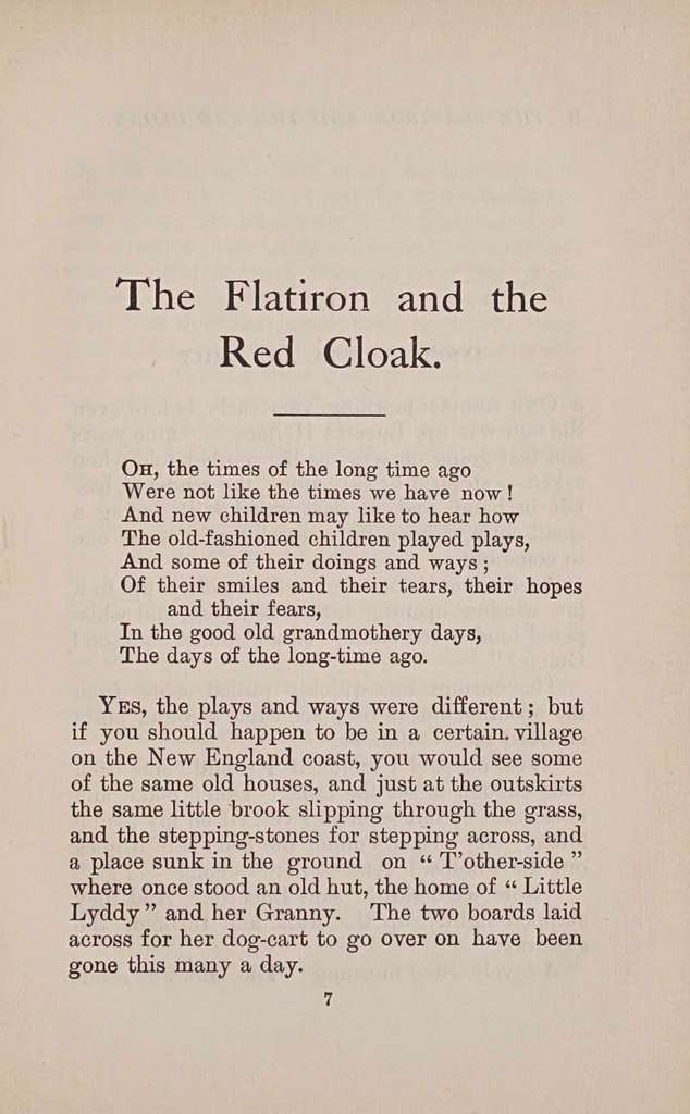 The flatiron and the red cloak; old times at X-roads,