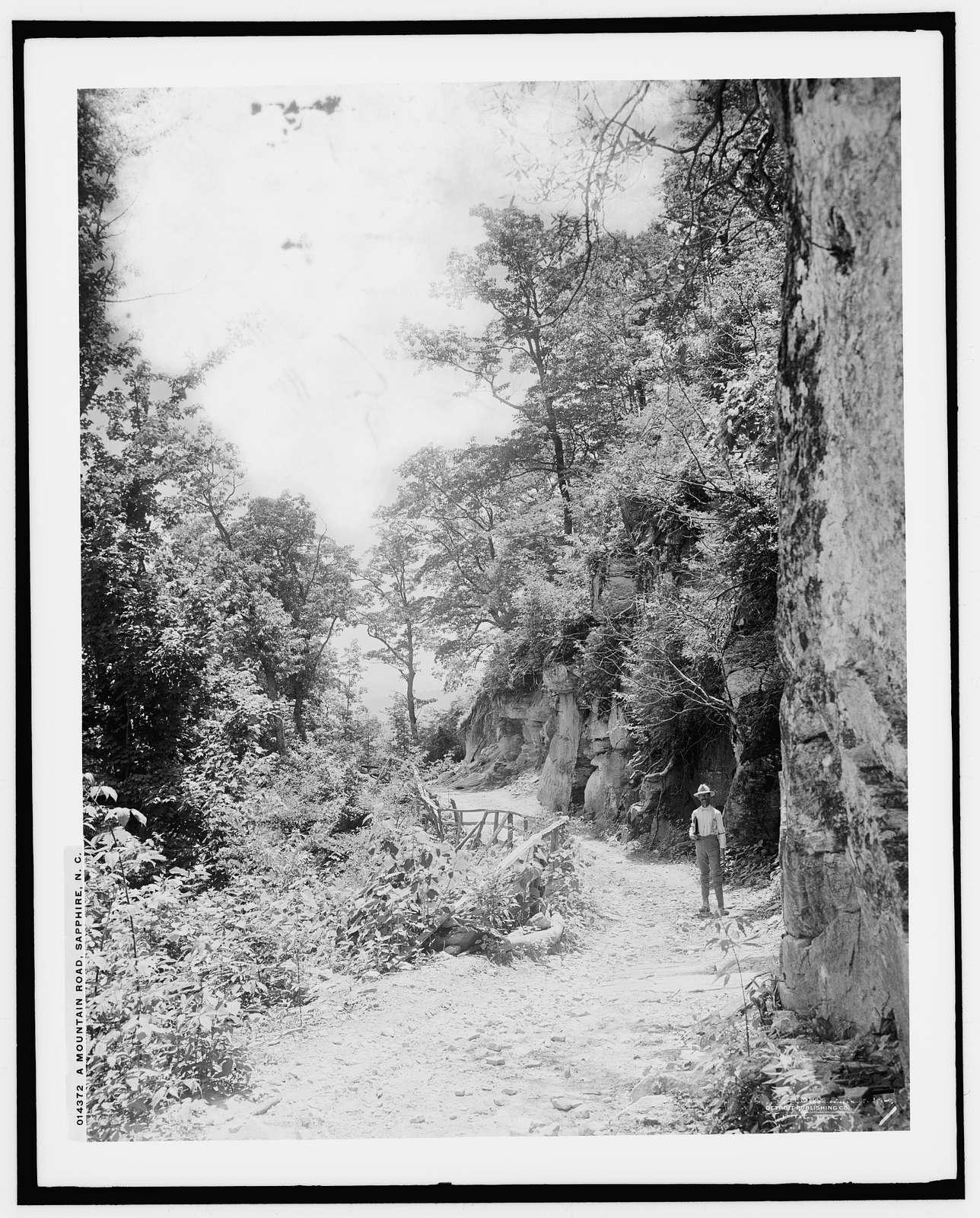 A mountain road, Sapphire, N.C