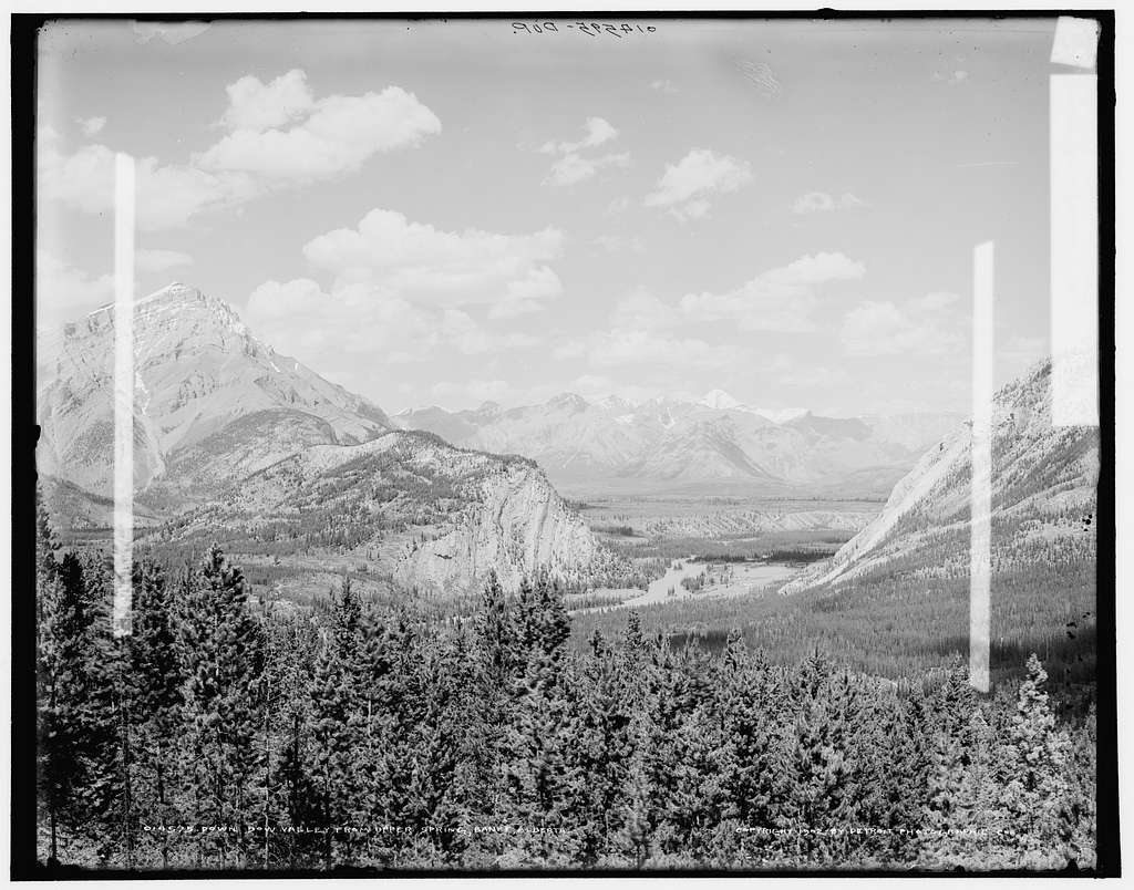 Down Bow Valley from upper spring, Banff, Alberta