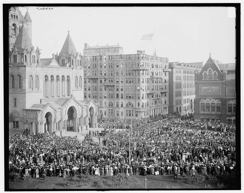 Officials entering Trinity Church (Copley Square), Boston, Mass.
