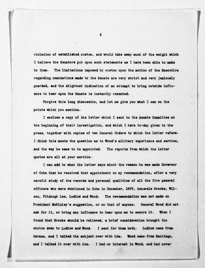 Theodore Roosevelt Papers: Series 1: Letters and Related Material, 1759-1919; 1903, Dec. 3-1903