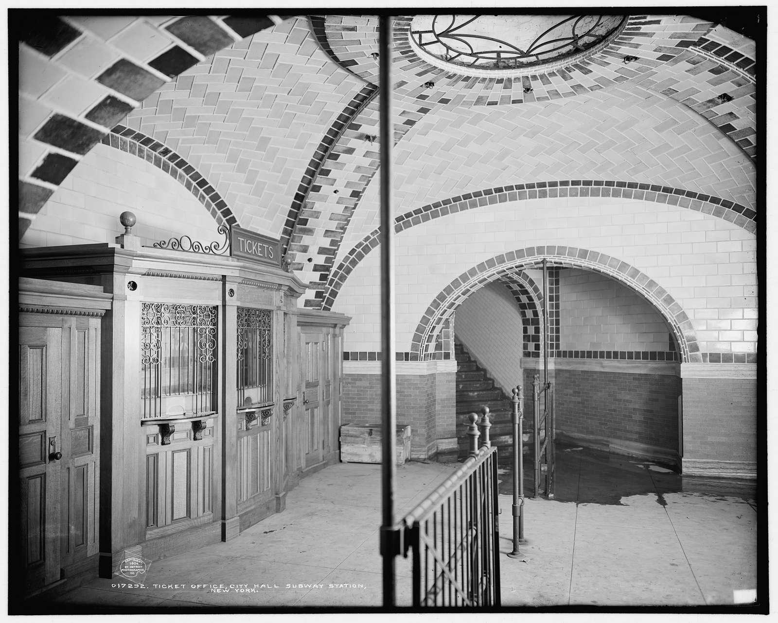 Ticket office, City Hall subway station, New York