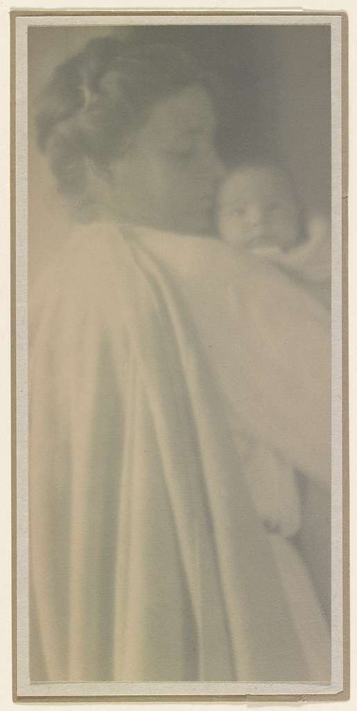 Beatrice Baxter Ruyl, in white cape, holding Ruth Ruyl