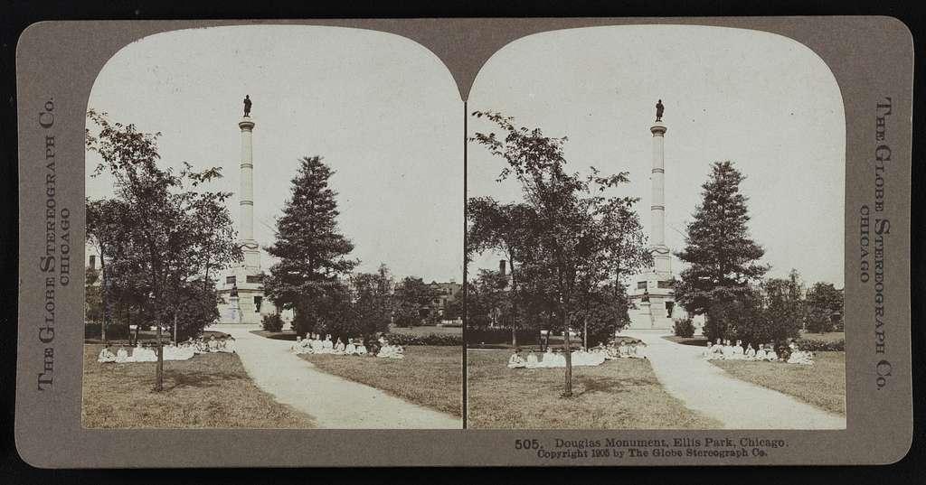 Douglas monument, Ellis Park, Chicago