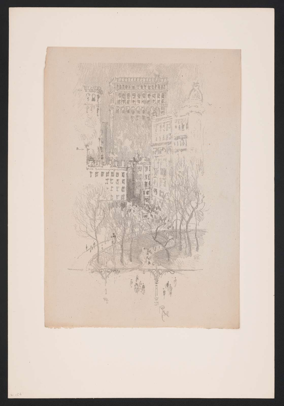 Lithographs of New York in 1904 drawn by Joseph Pennell. No. 10, Union Square J. Pennell