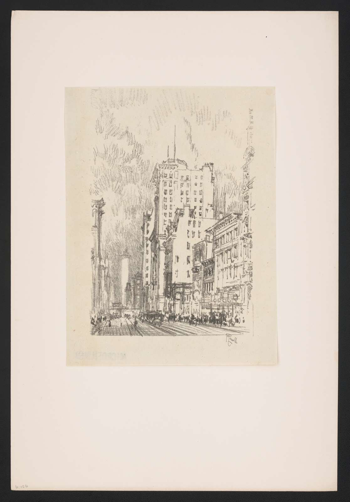 Lithographs of New York in 1904 drawn by Joseph Pennell. No. 11, Broadway above 23rd Street J. Pennell