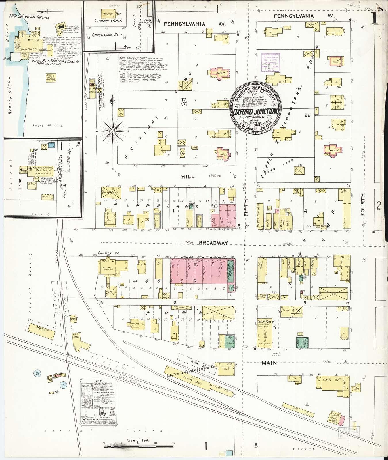 Sanborn Fire Insurance Map from Oxford Junction, Jones County, Iowa
