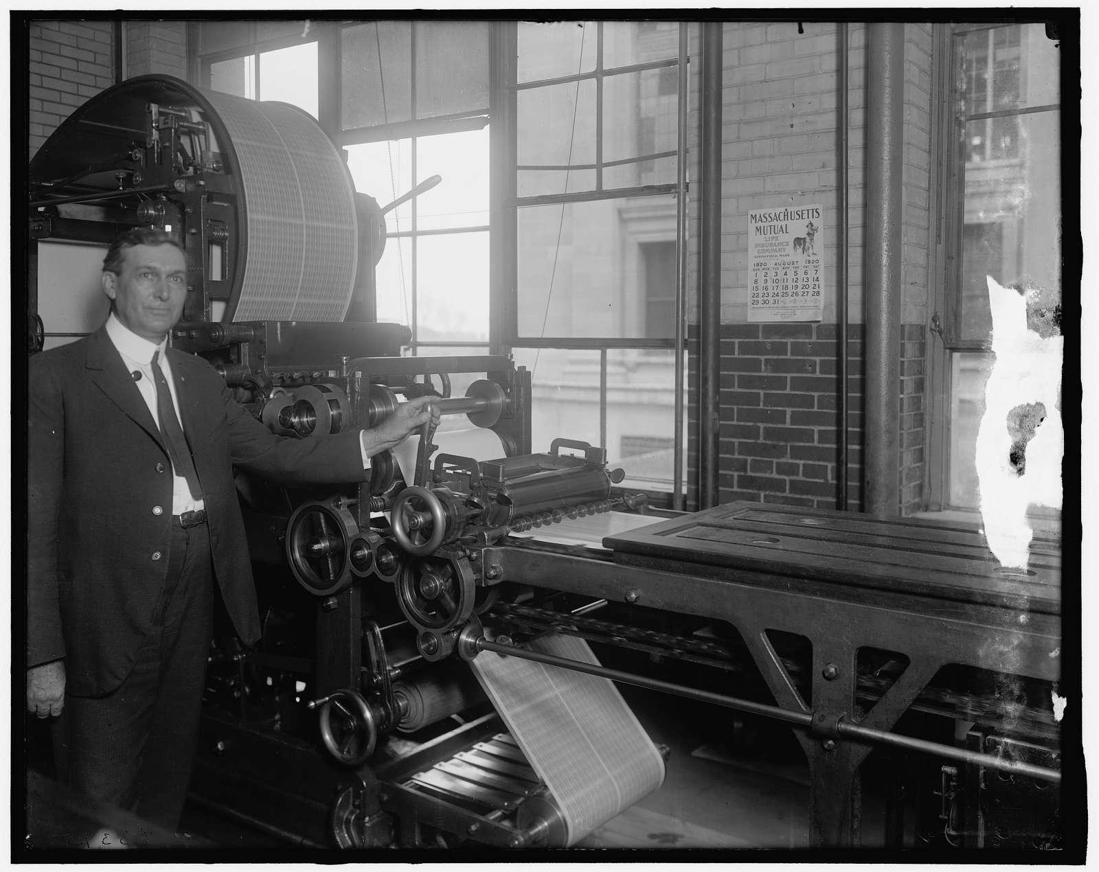 Stamp machine, Bureau of Engraving