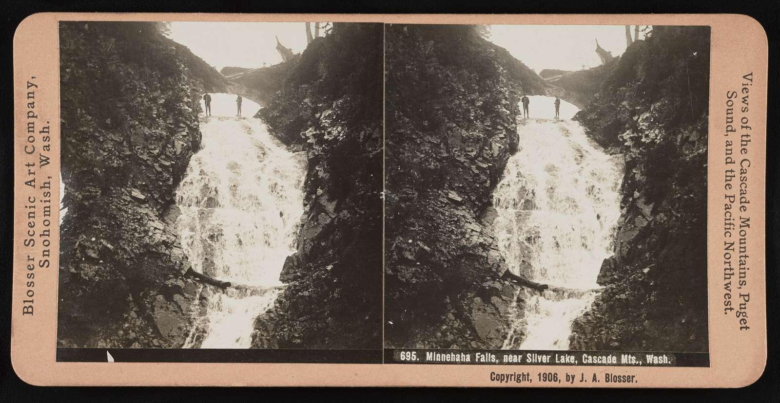 Minnehaha Falls, near Silver Lake, Cascade Mts., Wash