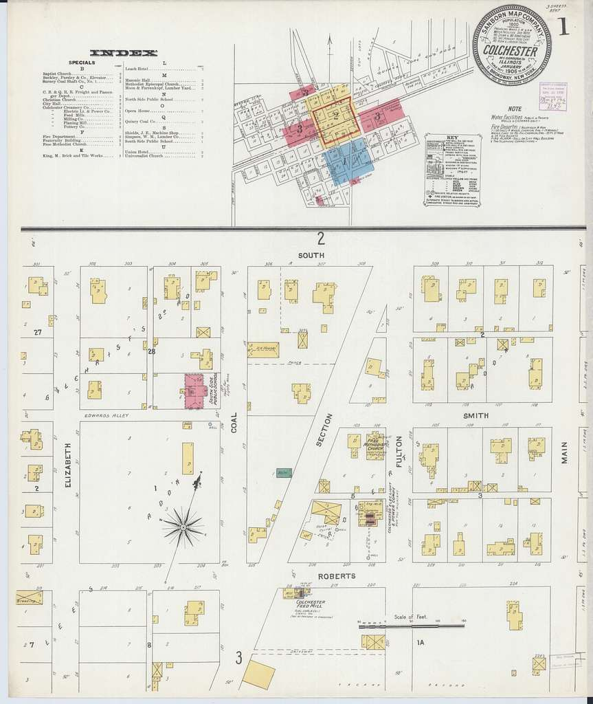 Sanborn Fire Insurance Map from Colchester, Mcdonough County, Illinois