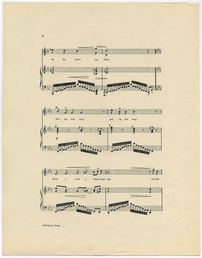 Galloping Song Op. 12, No. 3