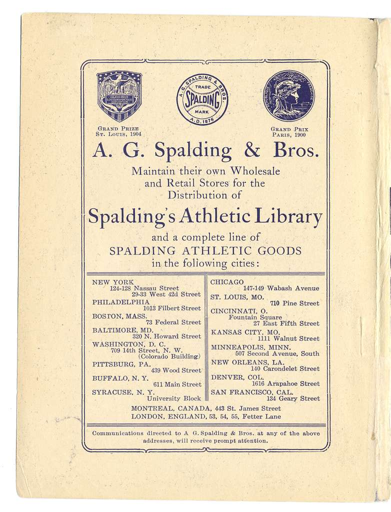 Official indoor base ball guide containing the constitution, 1907