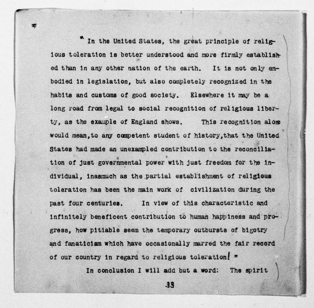 Theodore Roosevelt Papers: Series 1: Letters and Related Material, 1759-1919; 1907, May 10-June 25