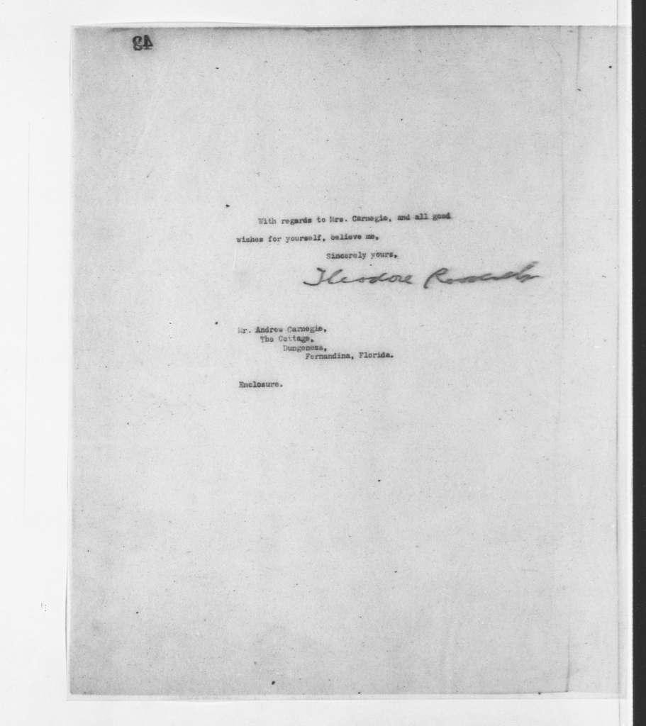 Theodore Roosevelt Papers: Series 2: Letterpress Copybooks, 1897-1916; Vol. 71, 1907, Feb. 14-20