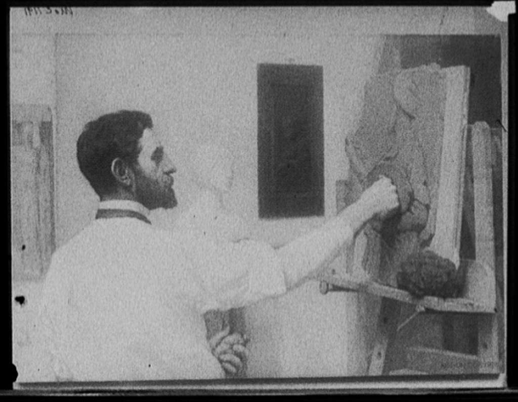 Augustus Saint-Gaudens, head-and-shoulders portrait