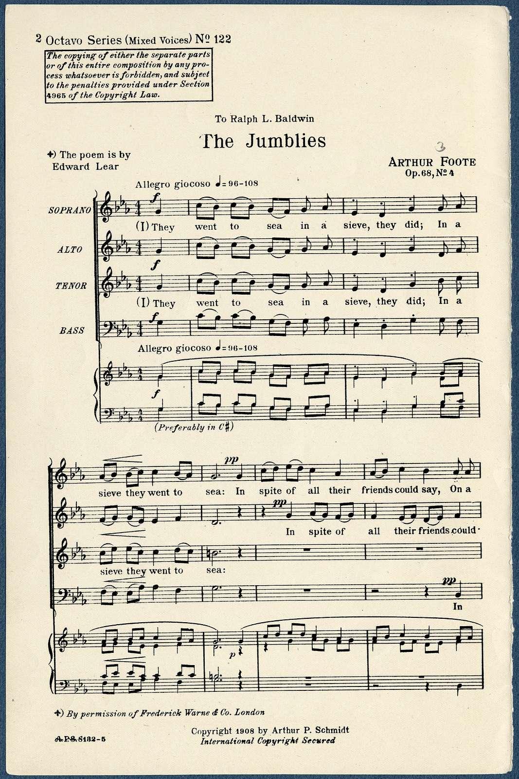 Songs op. 68 Jumblies