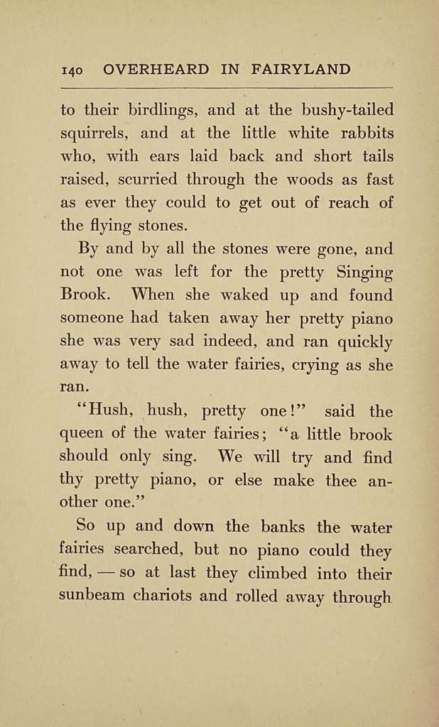 Overheard in fairyland,