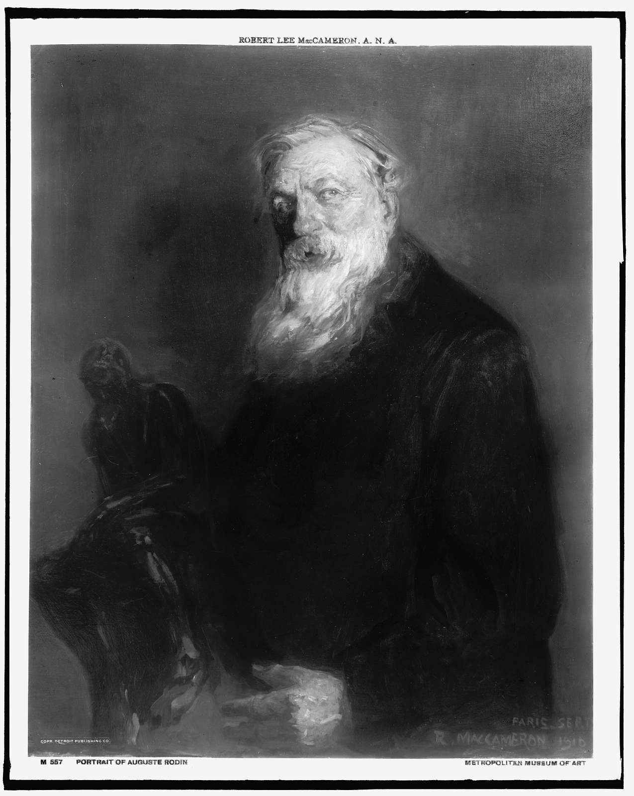 Auguste Rodin, half-length portrait