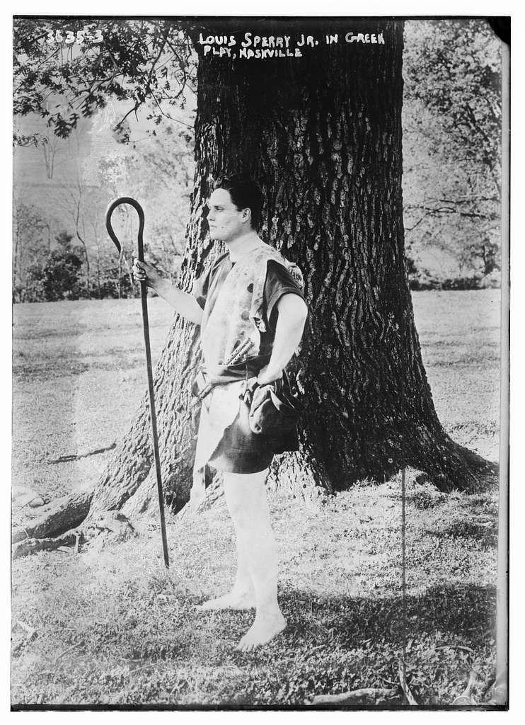 Louis Sperry Jr. in Greek Play, Nashville