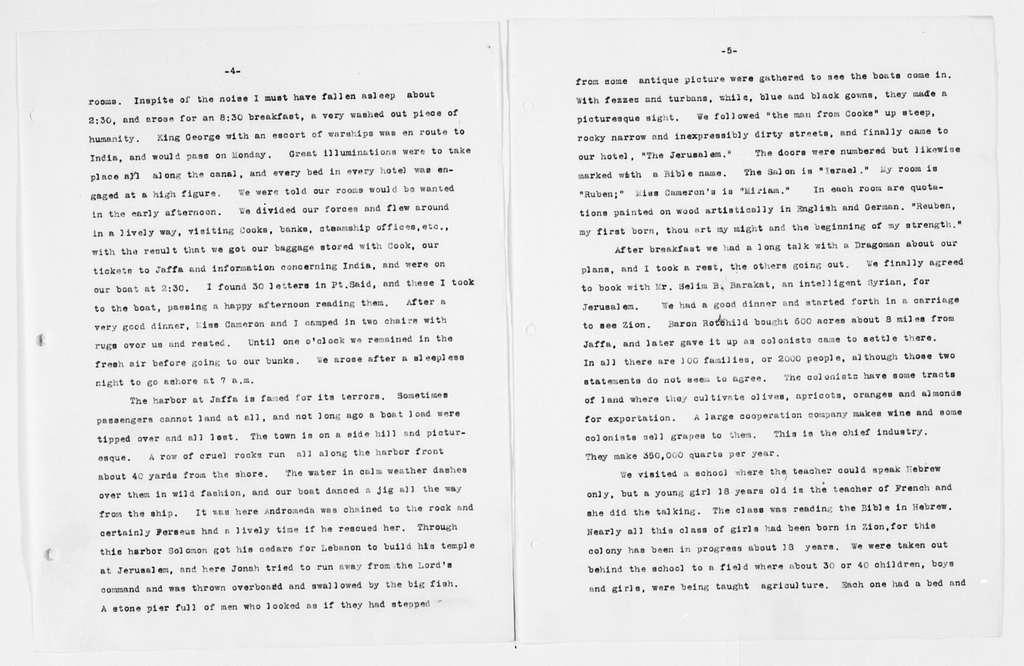Carrie Chapman Catt Papers: Diaries, 1911-1923; Duplicates; 1911, Nov. 14-Dec. 17