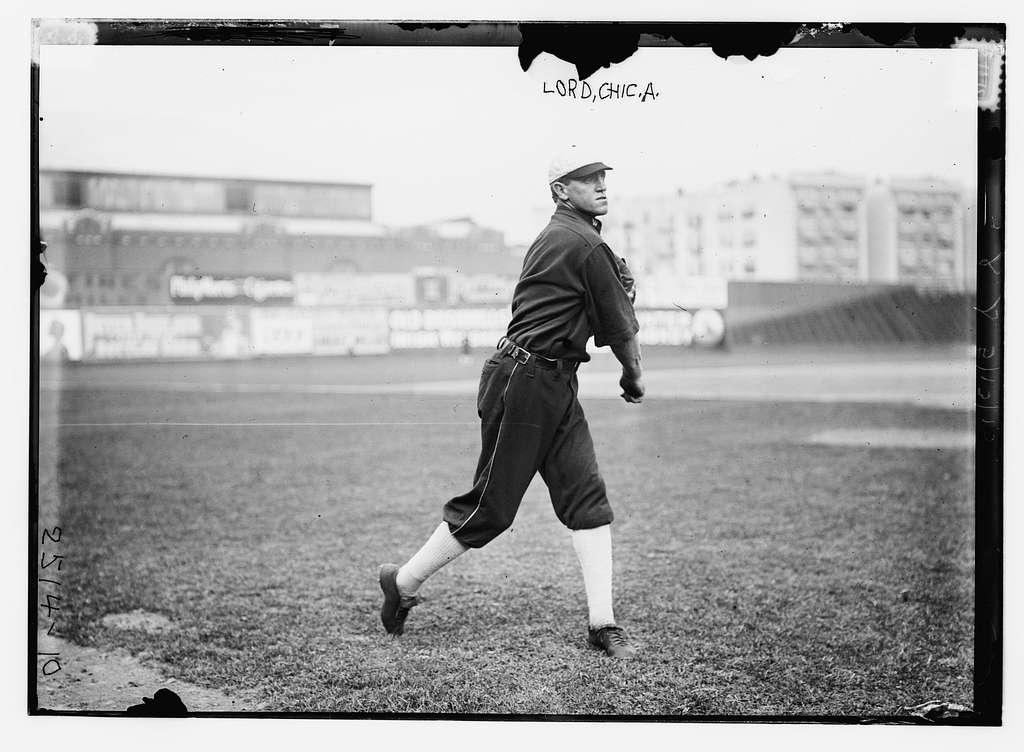 Harry Lord, Chicago AL, at Hilltop Park, NY (baseball)