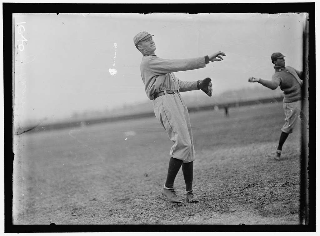 Walter Johnson, Bob Groom, Washington AL, at University of Virginia, Charlottesville (baseball)